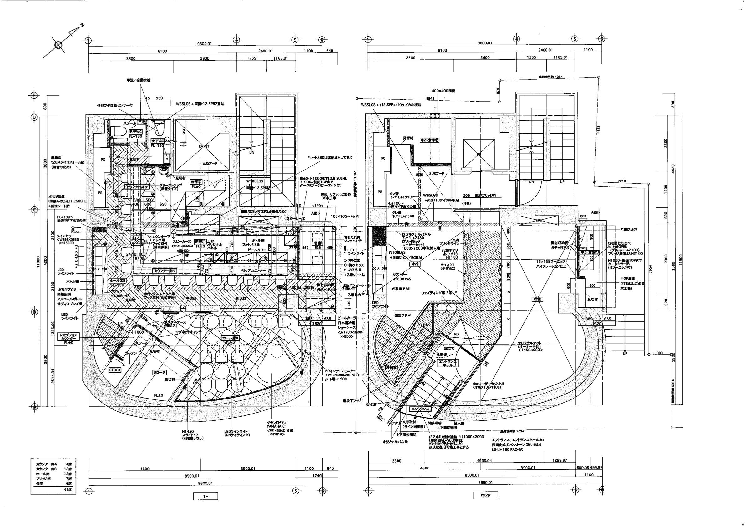 赤坂MUSIC HALL店平面図