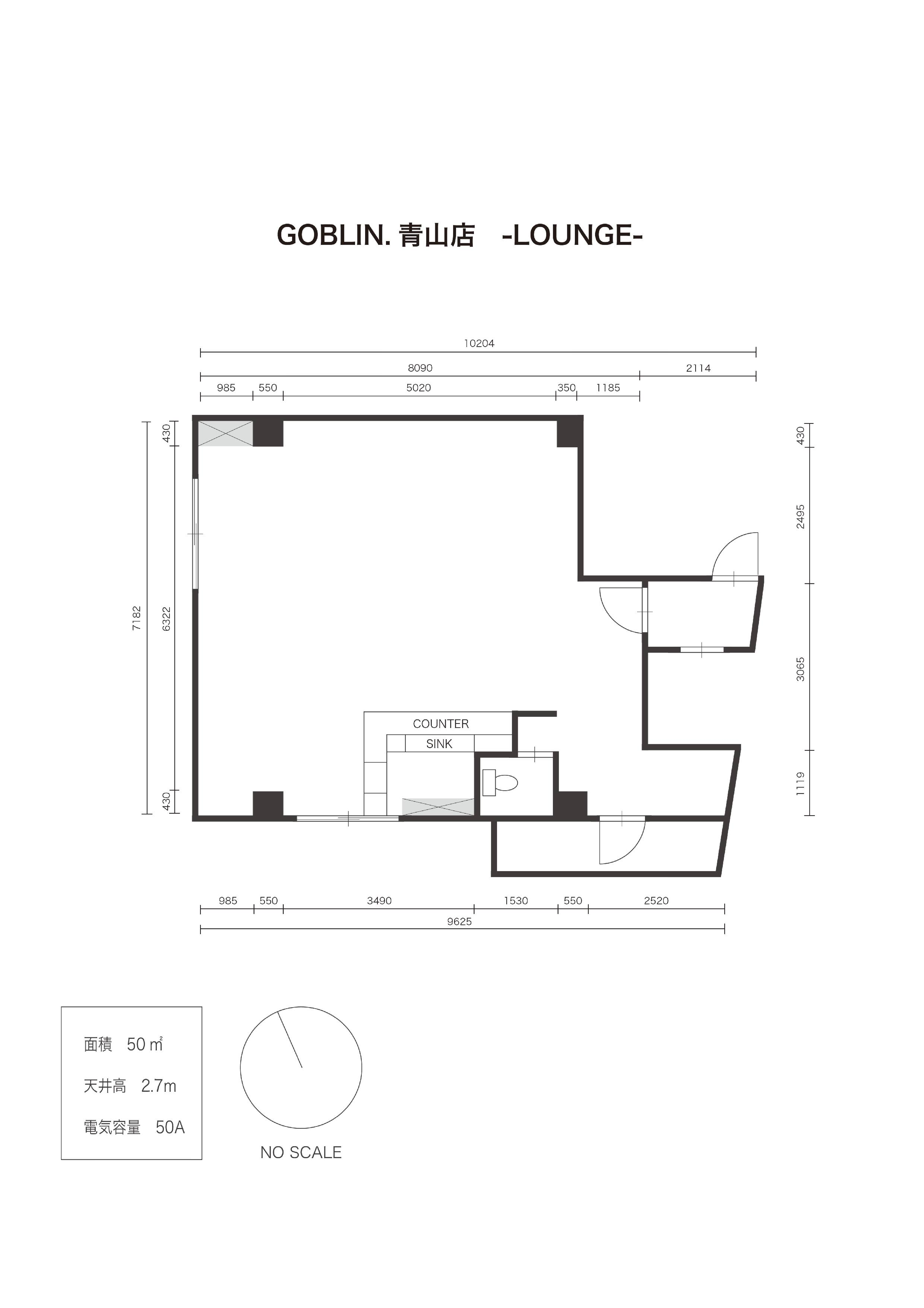 GOBLIN.青山店 -LOUNGE-平面図
