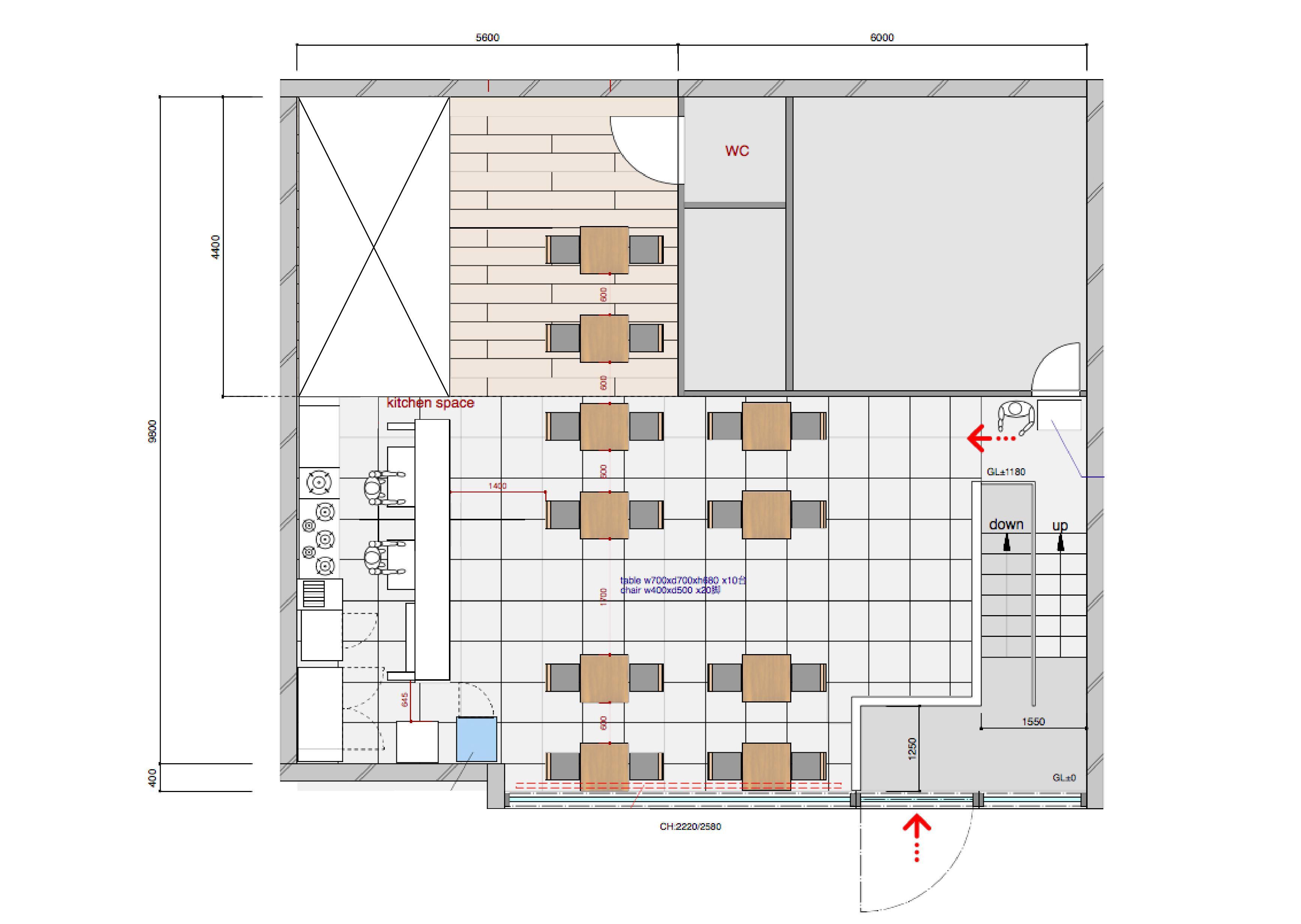 GOBLIN.代官山BLDG店 -DINING-平面図