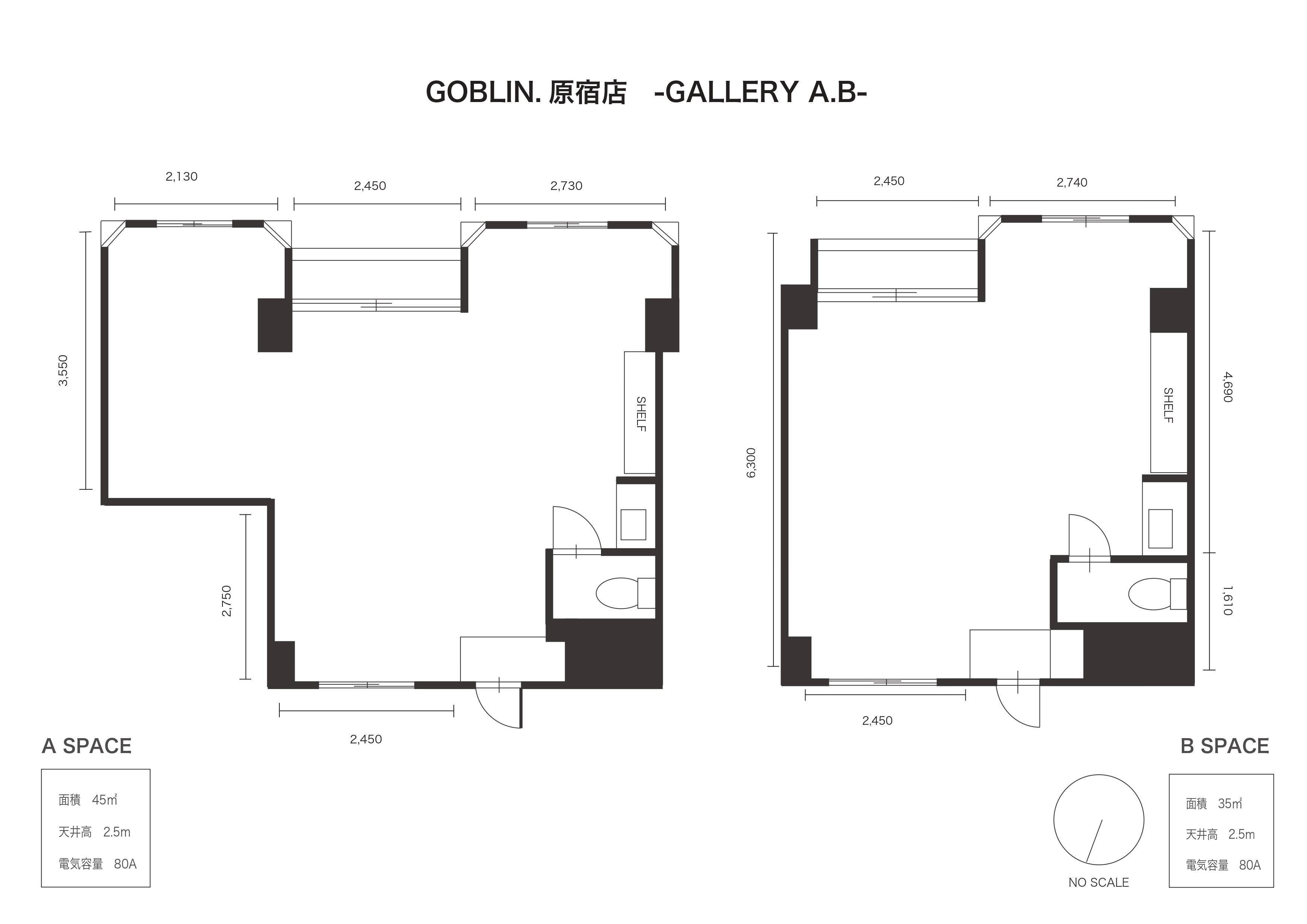 GOBLIN.原宿店 -GALLERY A-平面図