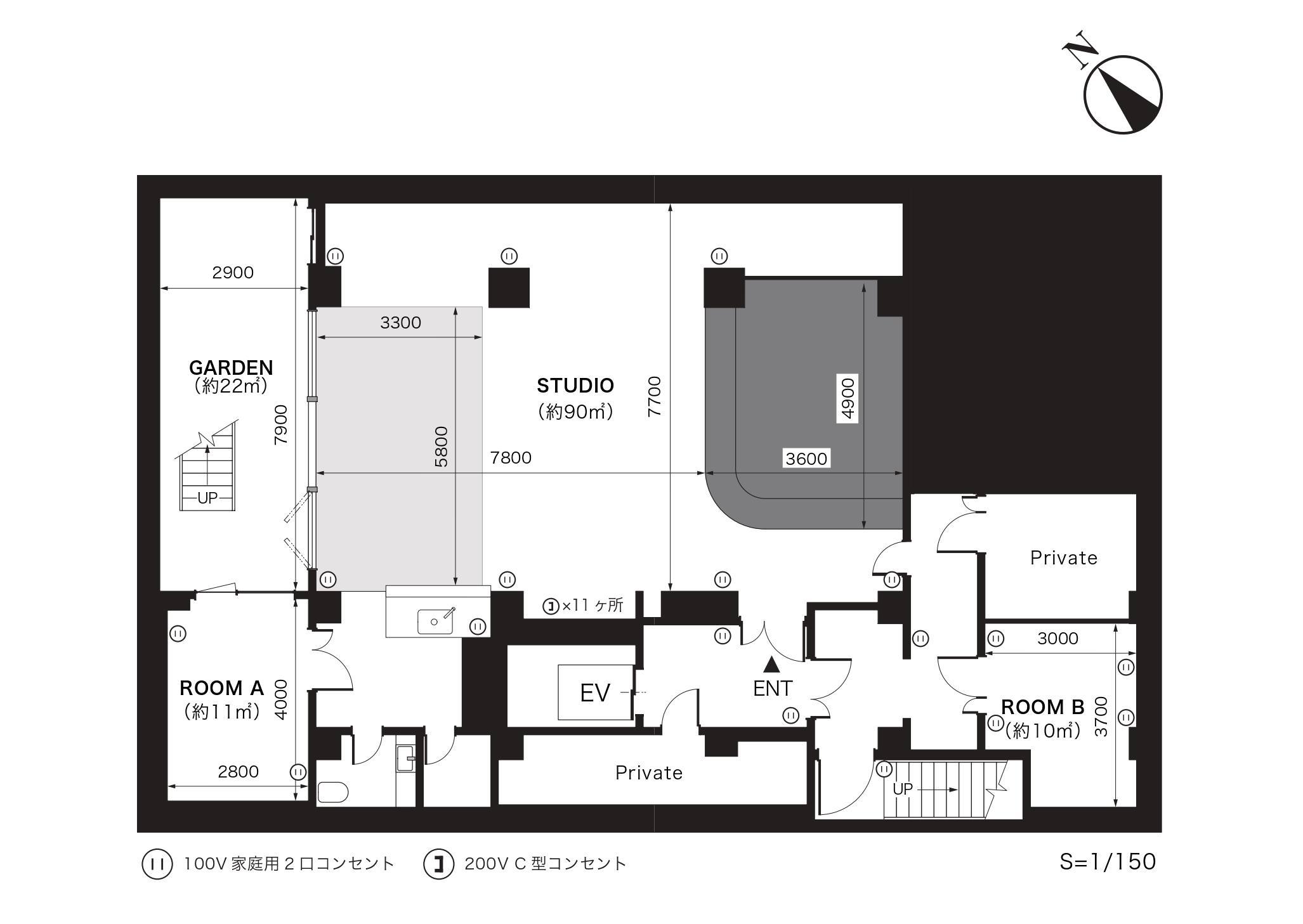 GOBLIN.渋谷HOUSE&HALL店平面図