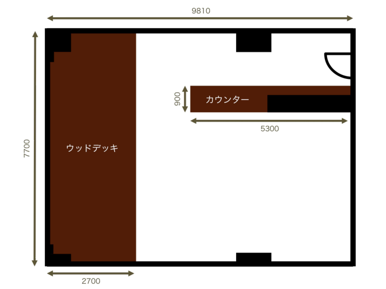 GOBLIN.品川HOUSE&CAFE店平面図
