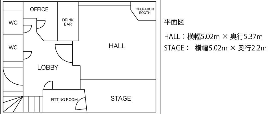 GOBLIN.代官山CAFE&STUDIO店平面図