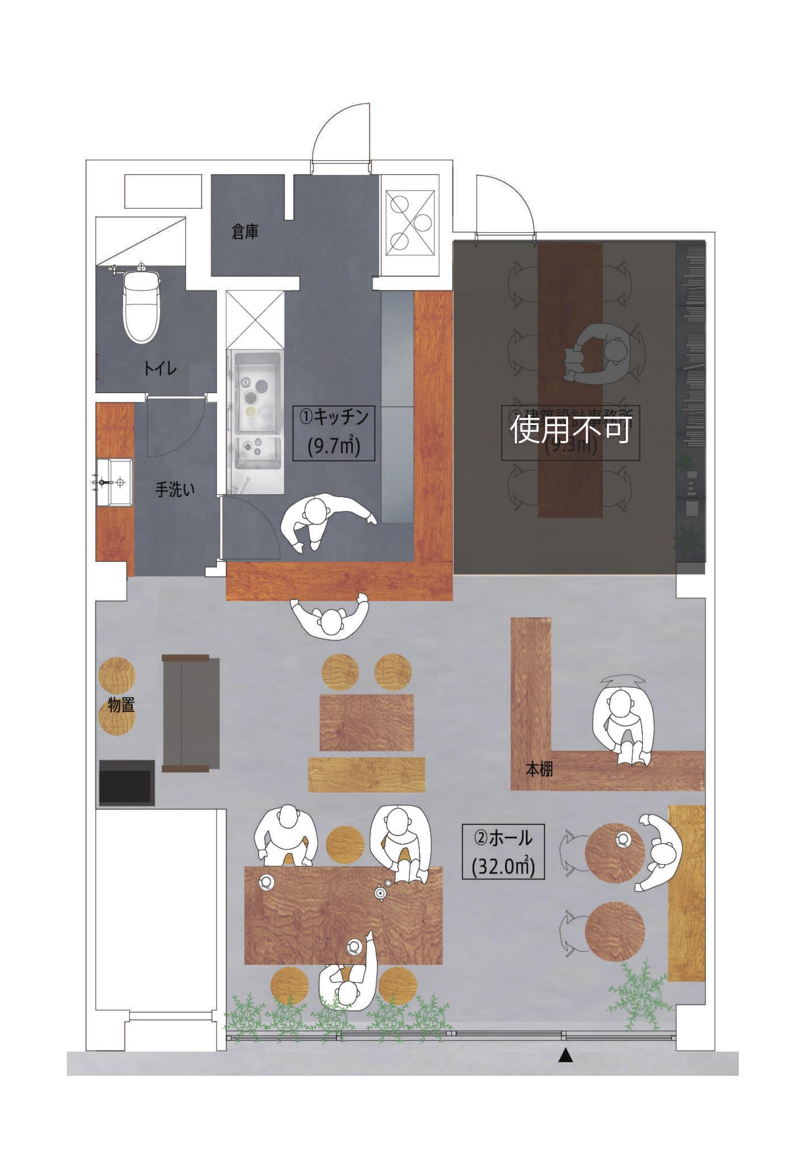 GOBLIN.横浜KITCHEN&CAFE店平面図