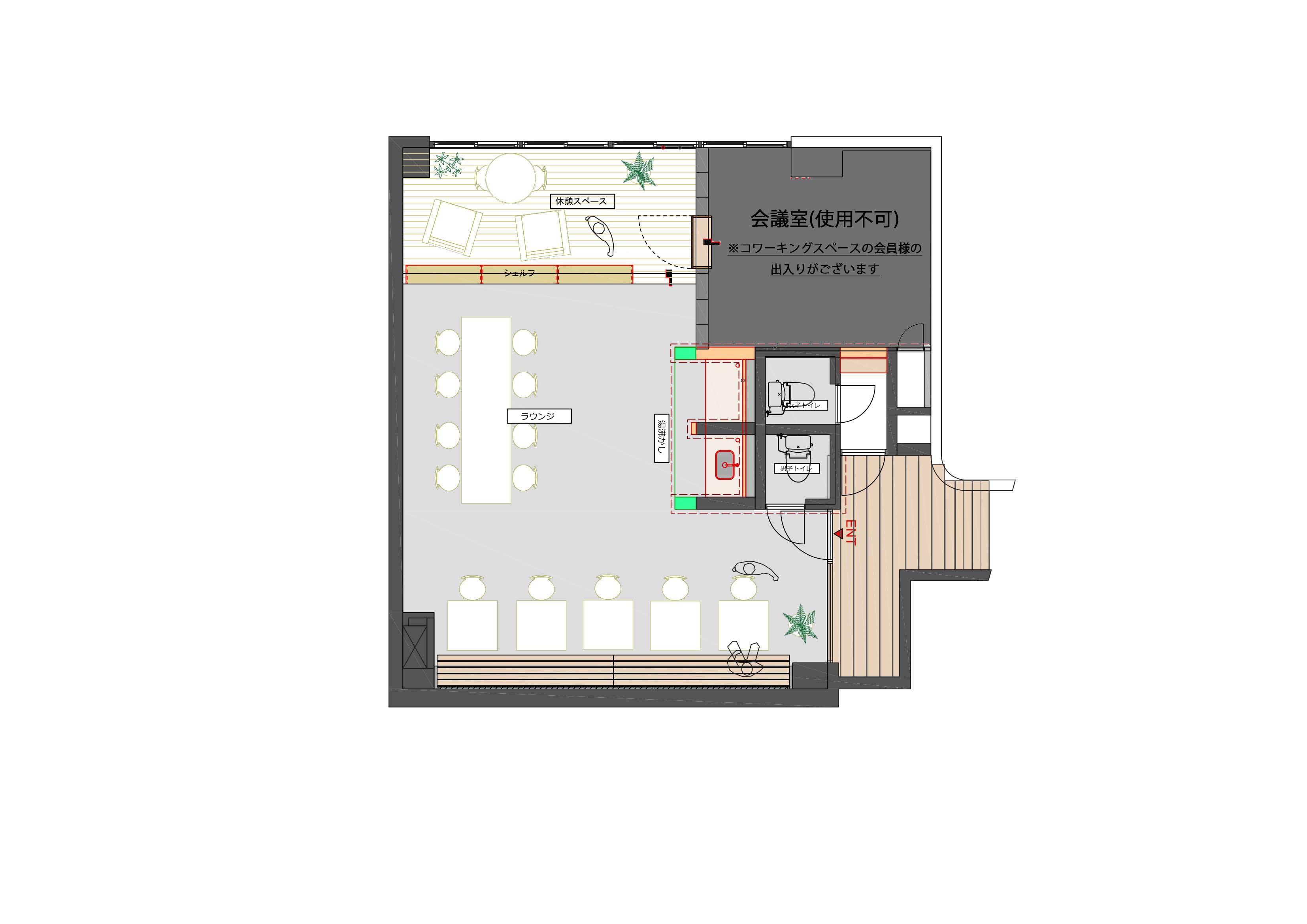 GOBLIN.六本木店平面図