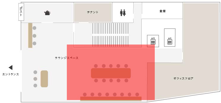 GOBLIN.品川LOUNGE店平面図