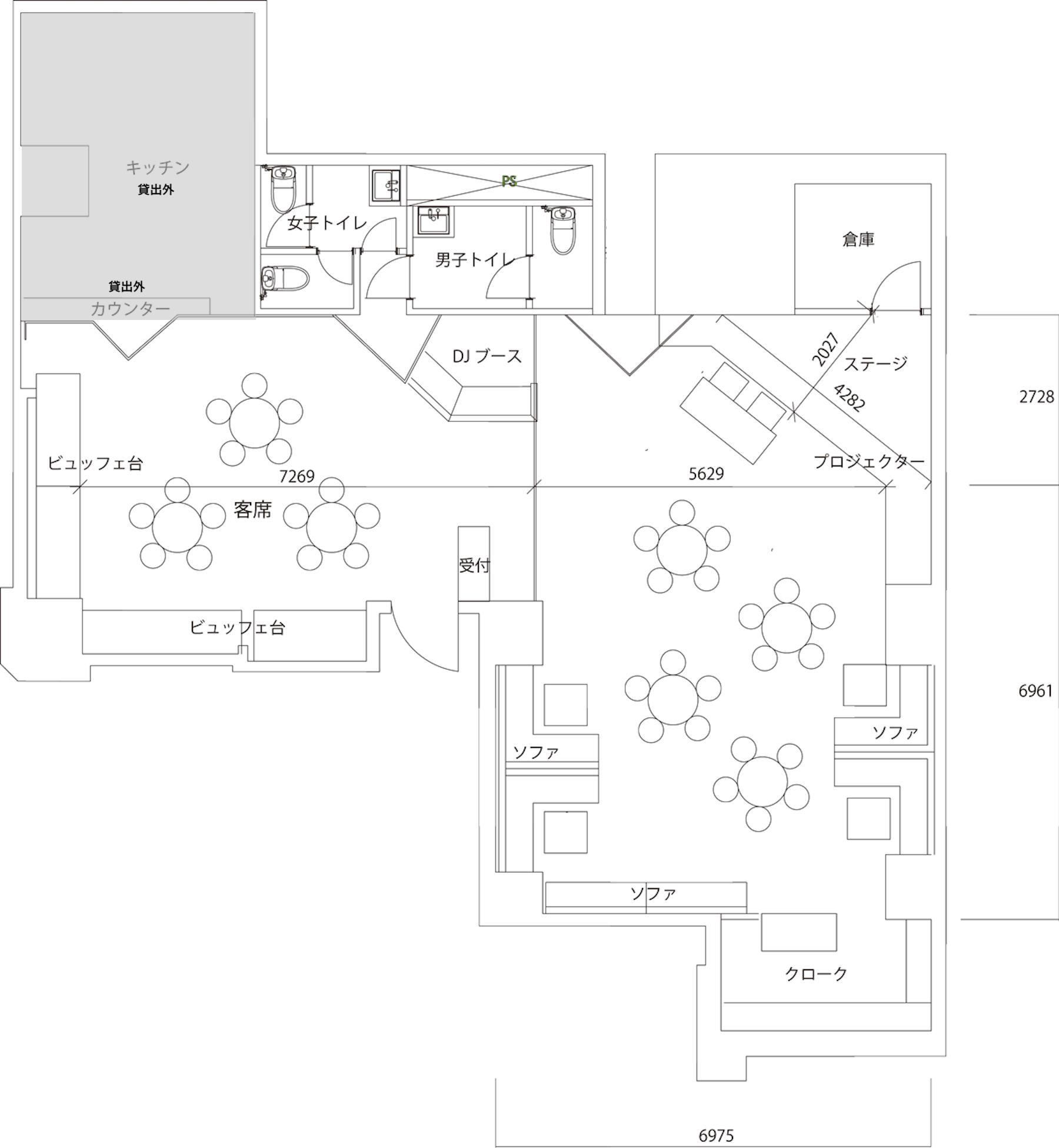 池袋CAFE店平面図