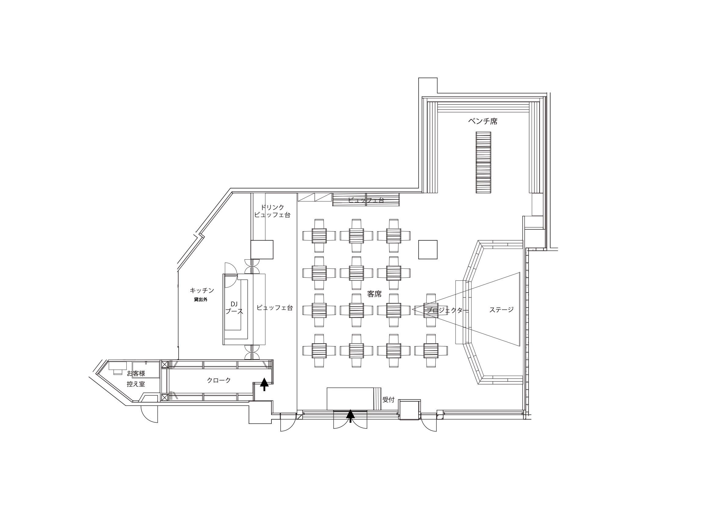 GOBLIN.新宿HALL店平面図