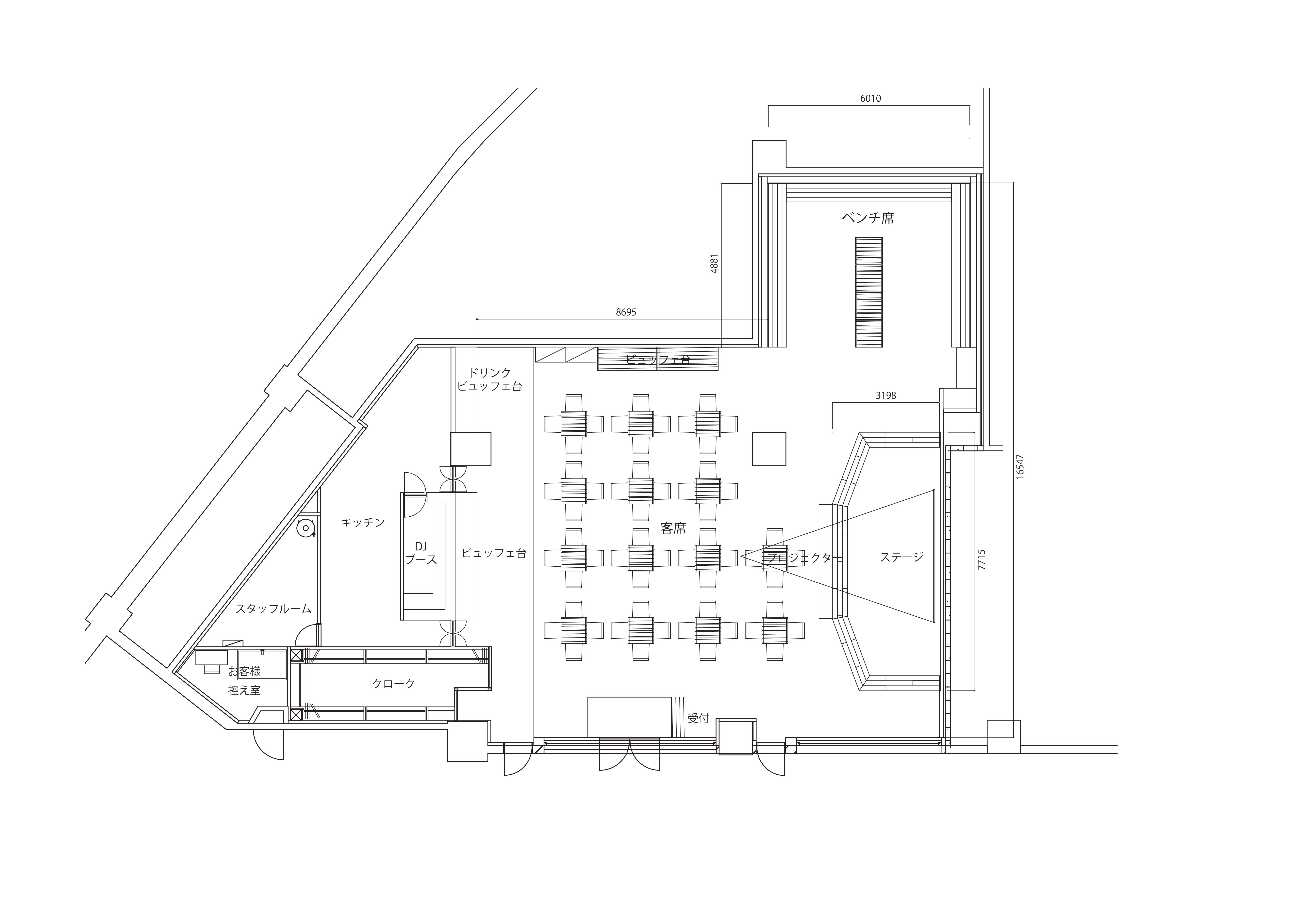 新宿HALL店平面図