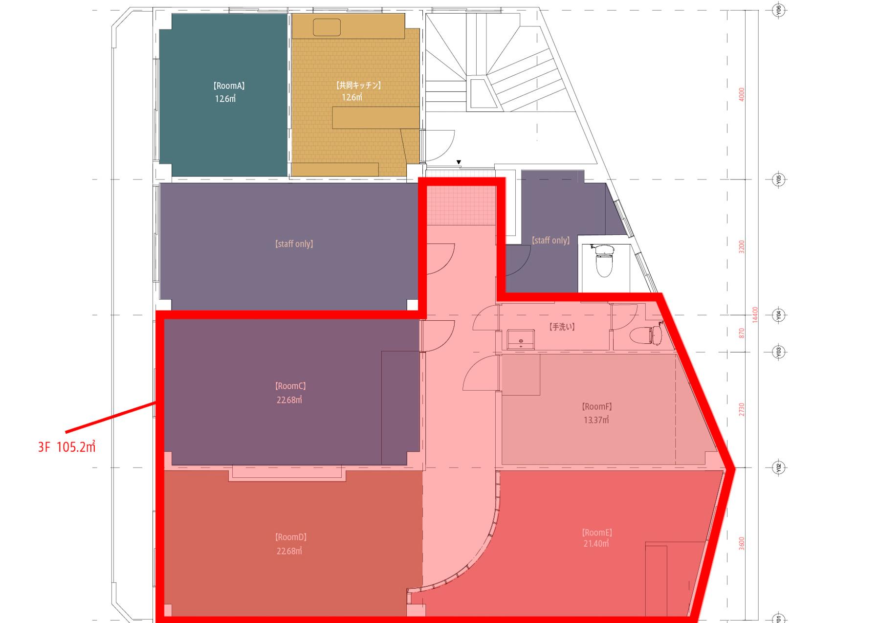 横浜BLDG店 -SHARE HOUSE-平面図