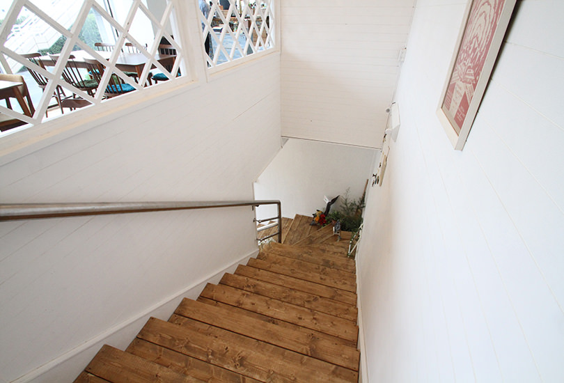 撮影にも使える階段(上から)